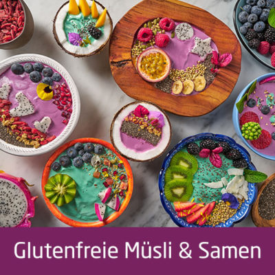 Glutenfreie Müsli & Samen
