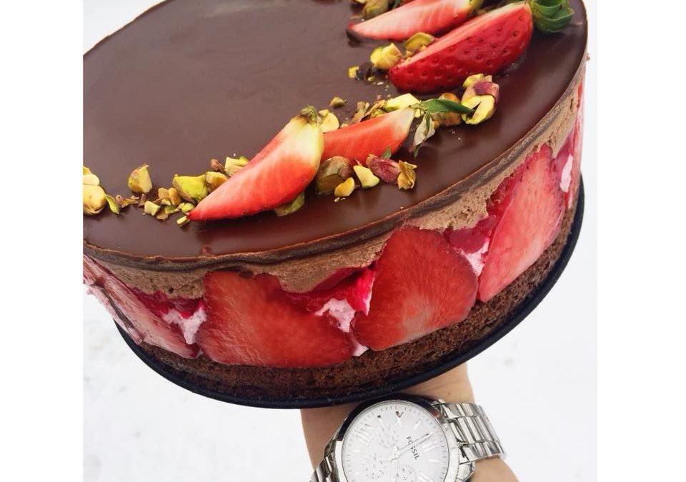 Szafi Reform kohlenhydratreduzierte Erdbeermousse Torte (glutenfrei, sojafrei, ohne Zuckerzusatz)